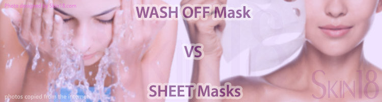 Wash off Mask VS Sheet Masks