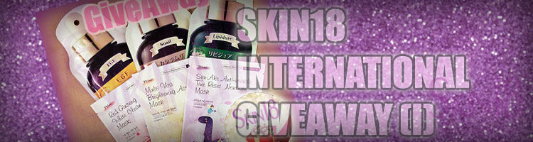 skin18 international giveaway (I)