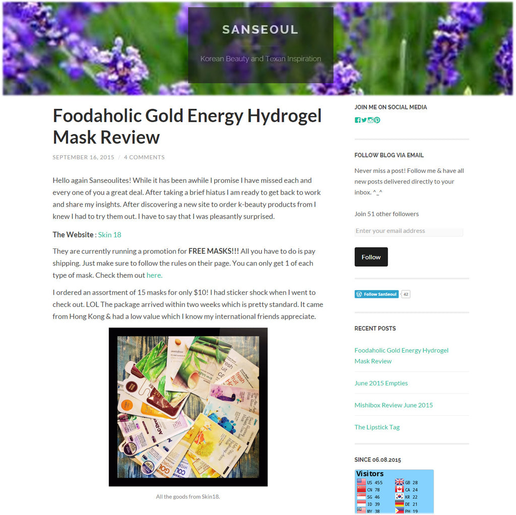 (Blogger : sanantonioseoul.com) Foodaholic Gold Energy Hydrogel Mask Review 0