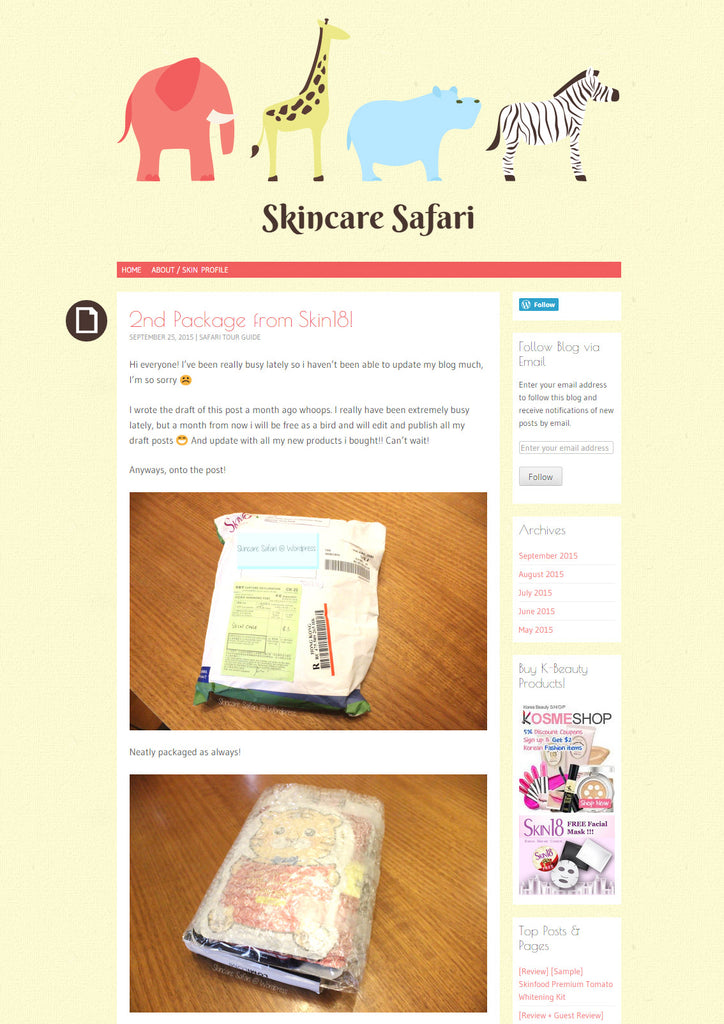 (Blogger : skincaresafari.wordpress.com) 2nd Package from Skin18! 1