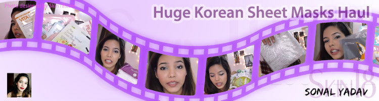 Huge Korean Sheet Masks Haul | skin18.com