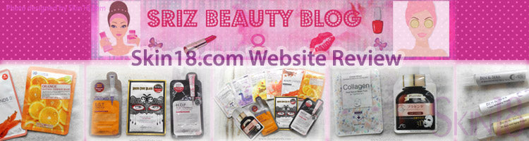 (Blogger: beautytints) Skin18.com Website Review!!!