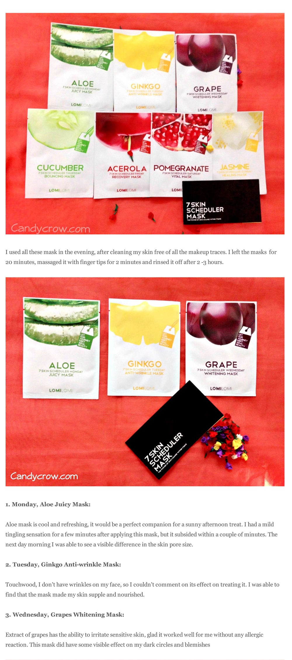 (Blogger : candycrow.com) Lomi Lomi 7 Skin Scheduler Mask Review