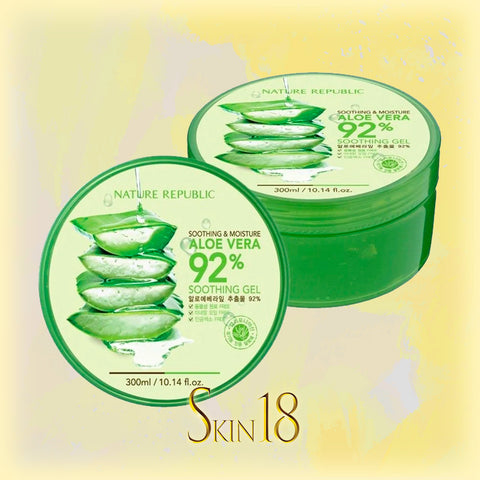 Nature Republic Soothing and Moisturizing Aloe Vera 92% Soothing Gel