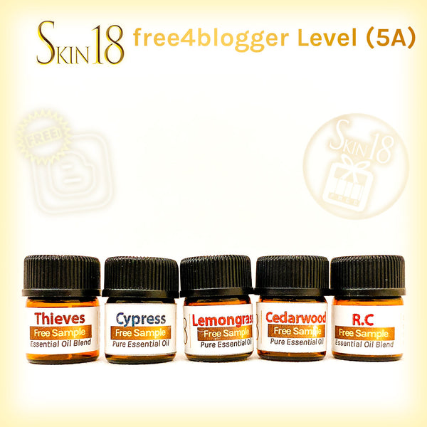(FREE) free4blogger level#5 - 5 types of Essential oils + 30ml V6