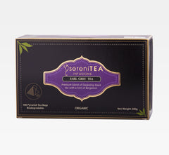 sereniTEA Earl Grey - Enveloped Pyramid Tea Bags (100 pcs)