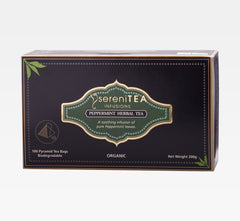 sereniTEA Peppermint Herbal - Enveloped Pyramid Tea Bags (100 pcs)