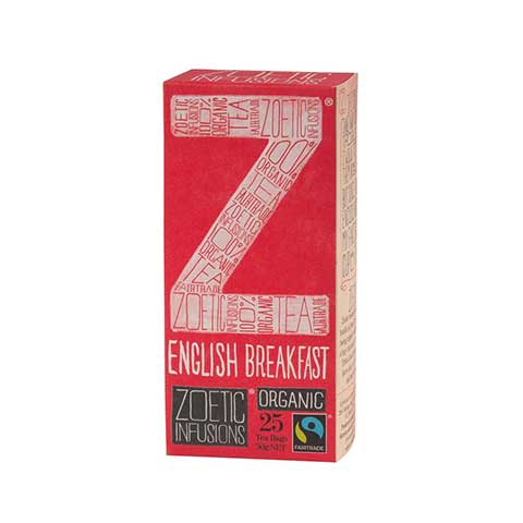 Zoetic Infusions Fairtrade Organic English Breakfast Tea (25 tea bags/box) (RP: RM 15.50)