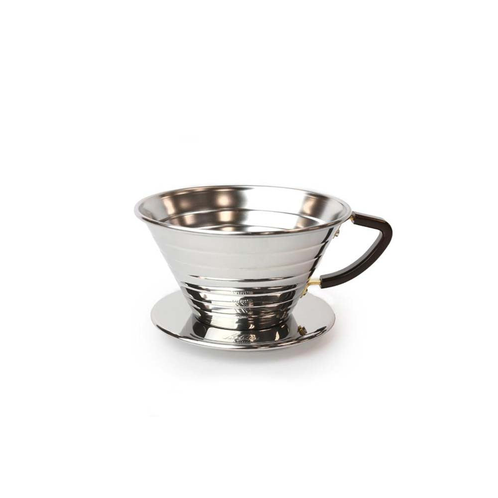 Kalita 155 Steel Wave Coffee Dripper (Stainless Steel)