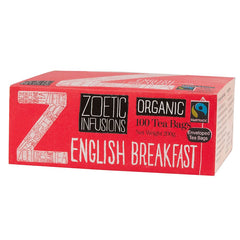 Zoetic Infusions Fairtrade Organic English Breakfast Tea (100 tea bags/box) (RP: RM 54.50)