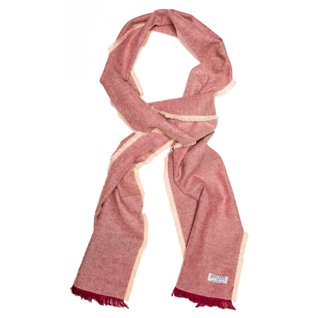 Cranberry Textured Flannel Scarf