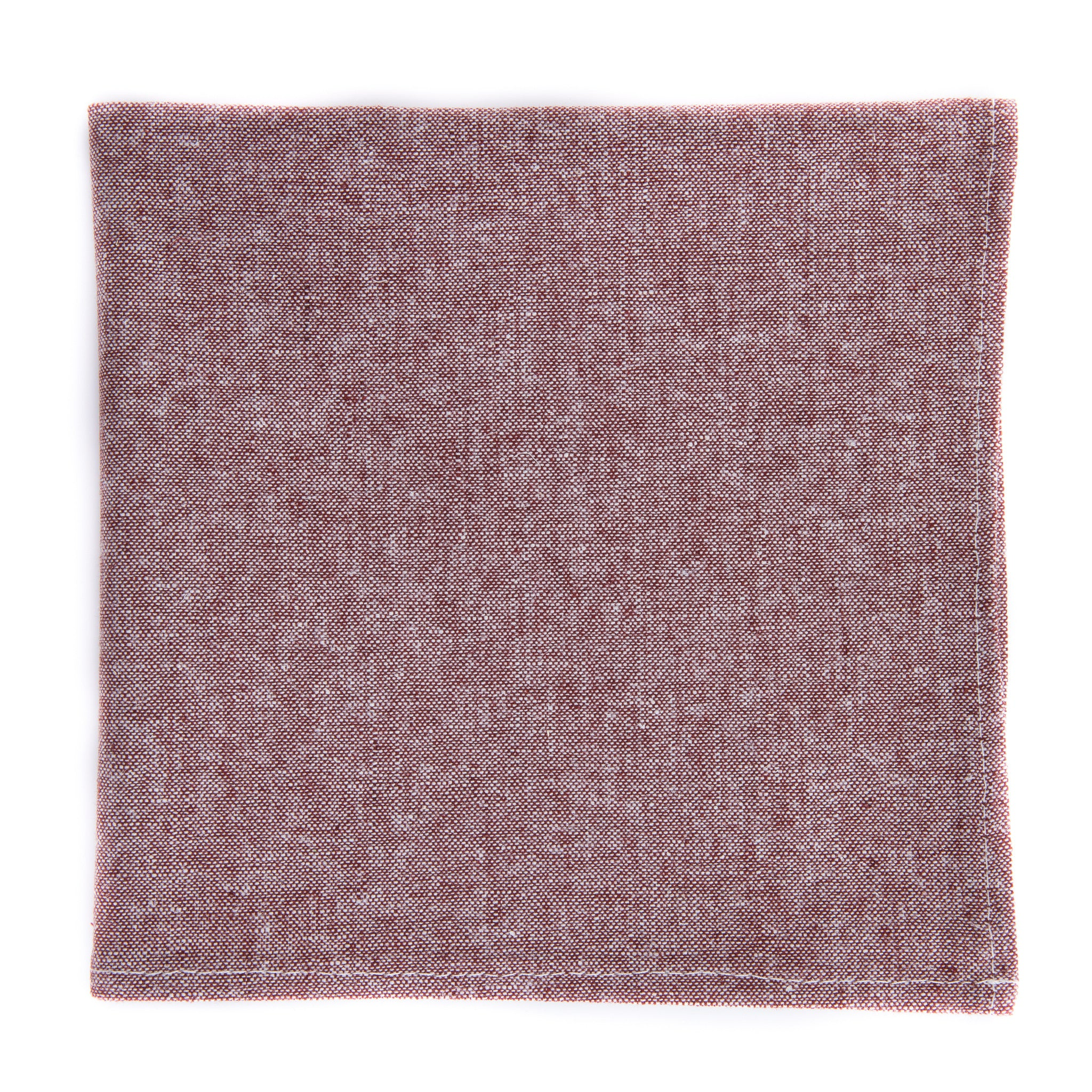 Rusty Red Chambray Pocket Square