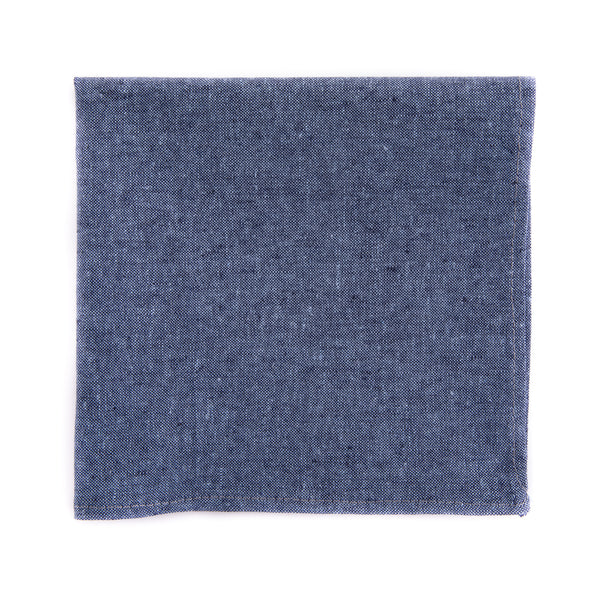 Nautical Blue Chambray Pocket Square