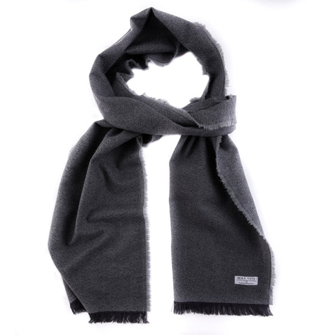 Gravel Gray Textured Flannel Scarf