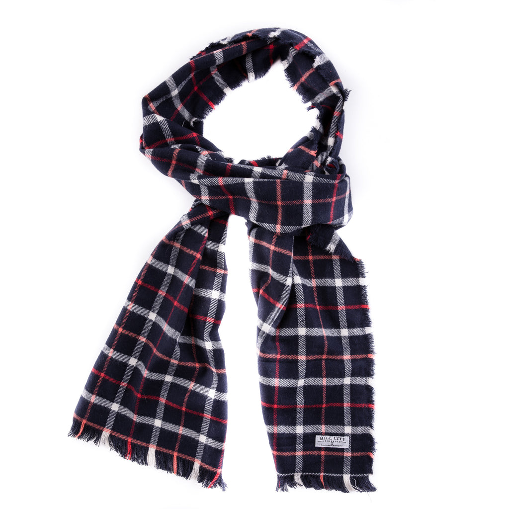 Fremont Plaid Flannel Scarf