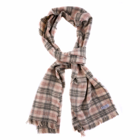 Ash Plaid Flannel Extra Large Scarf