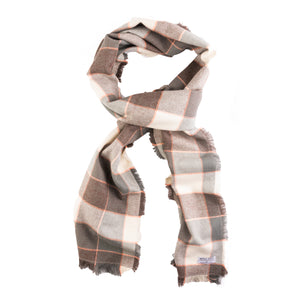 Shale Plaid Flannel Cotton Scarf (Wide)
