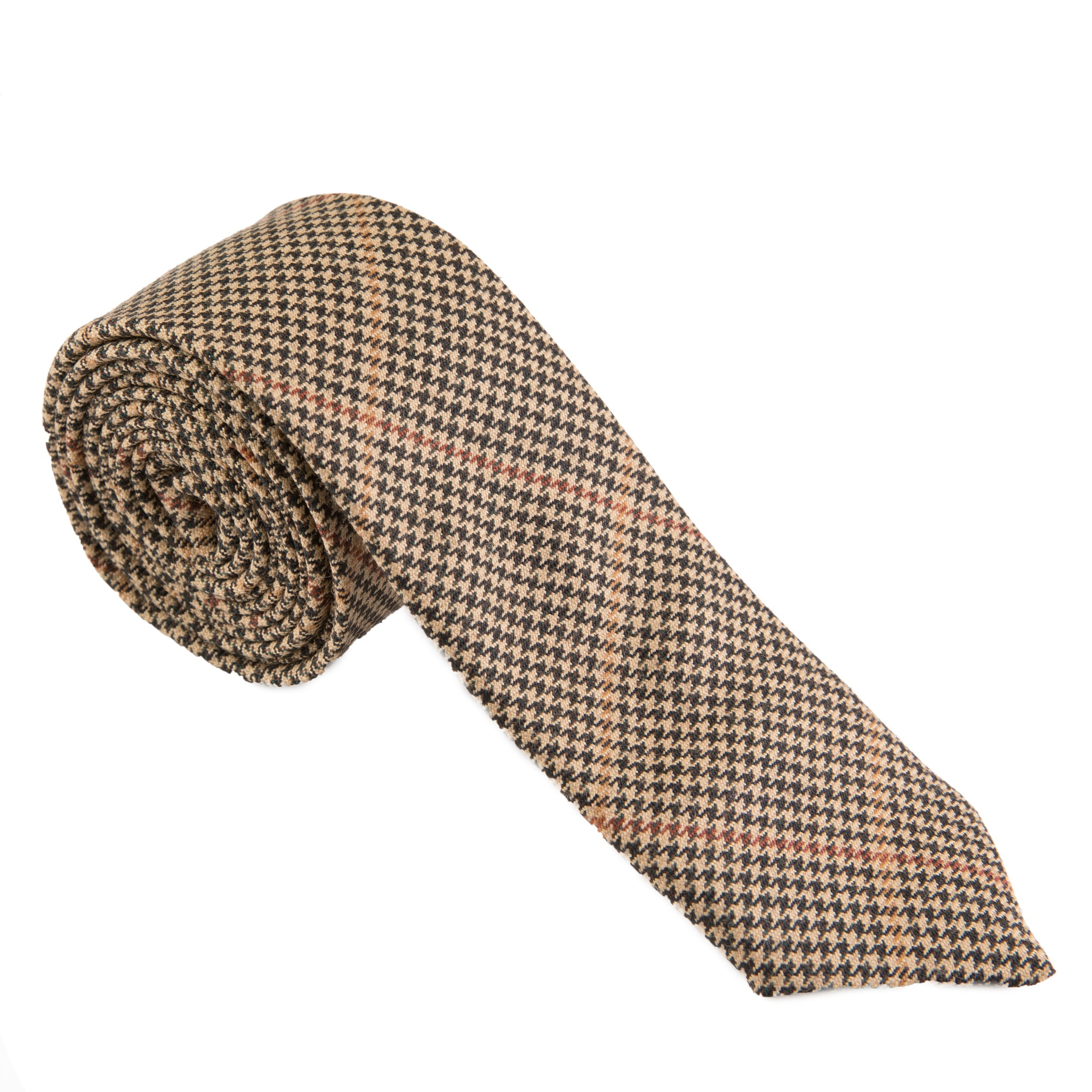Black & Tan Houndstooth Necktie