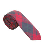 Dusty Red & Navy Tartan Necktie