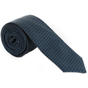 Dot-in-Diamond Grid Necktie (3 colors available)