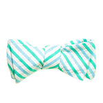 Mint Stripe Seersucker Bow Tie
