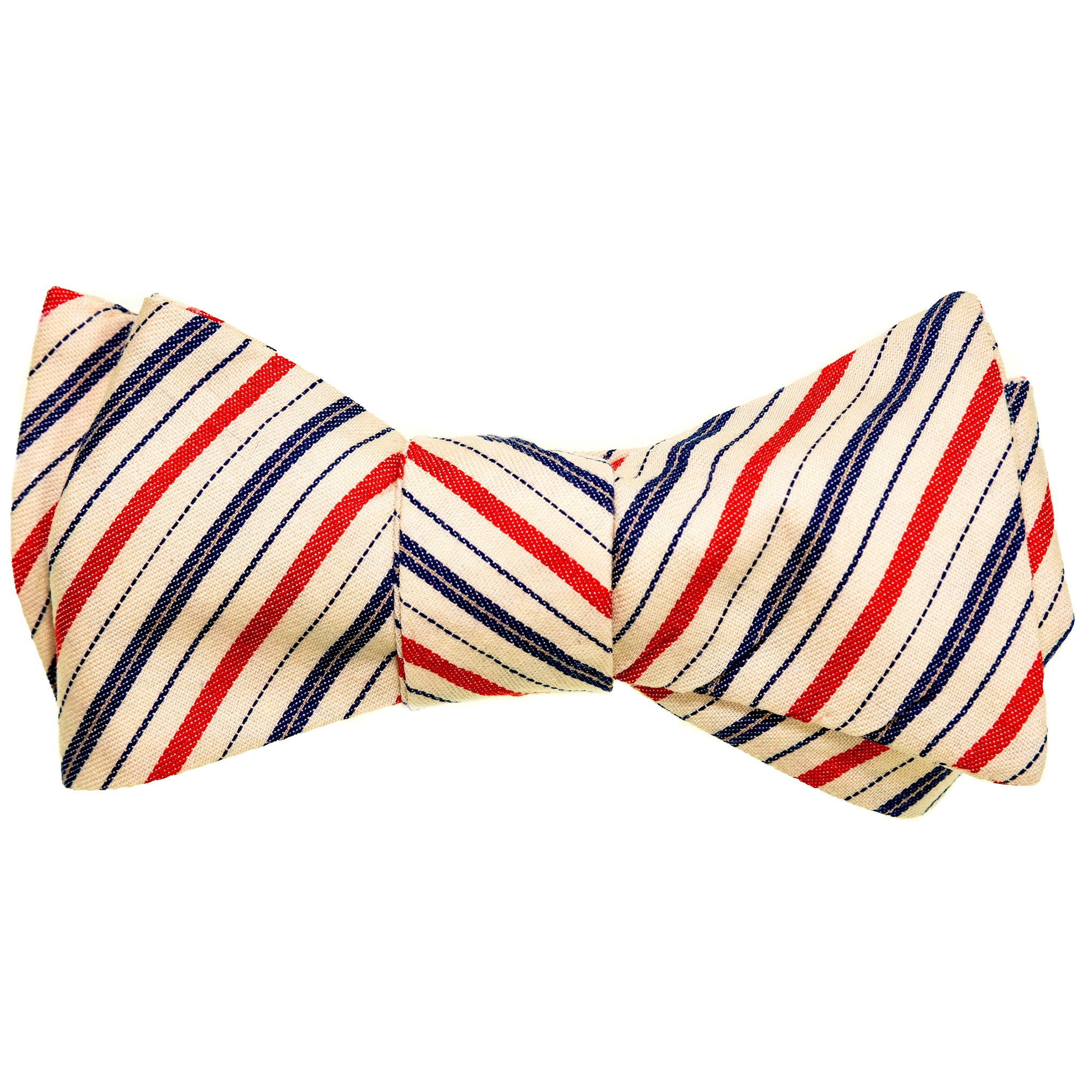 RWB Stripe Japanese Cotton Bow Tie