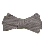 Gray Iridescent Silk Bow Tie