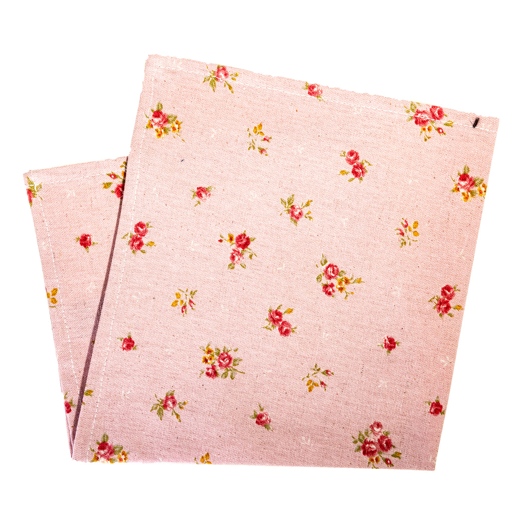 Japanese Floral Print on Rose Pocket Square