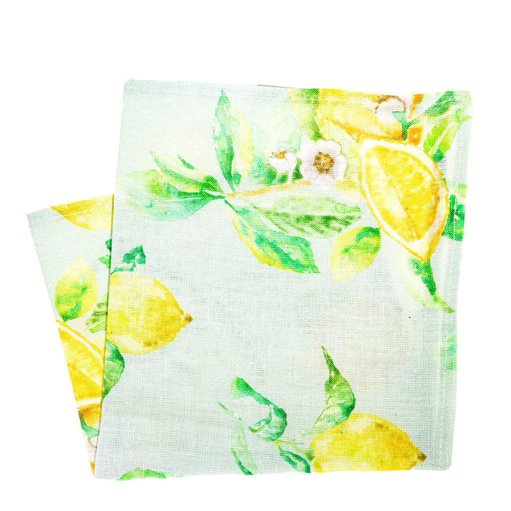 Lemon Linen Pocket Square
