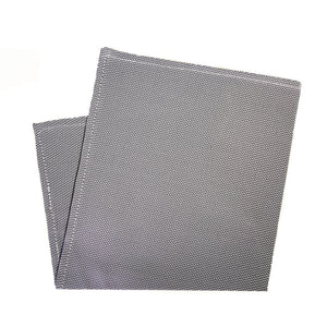 Gray Iridescent Silk Pocket Square