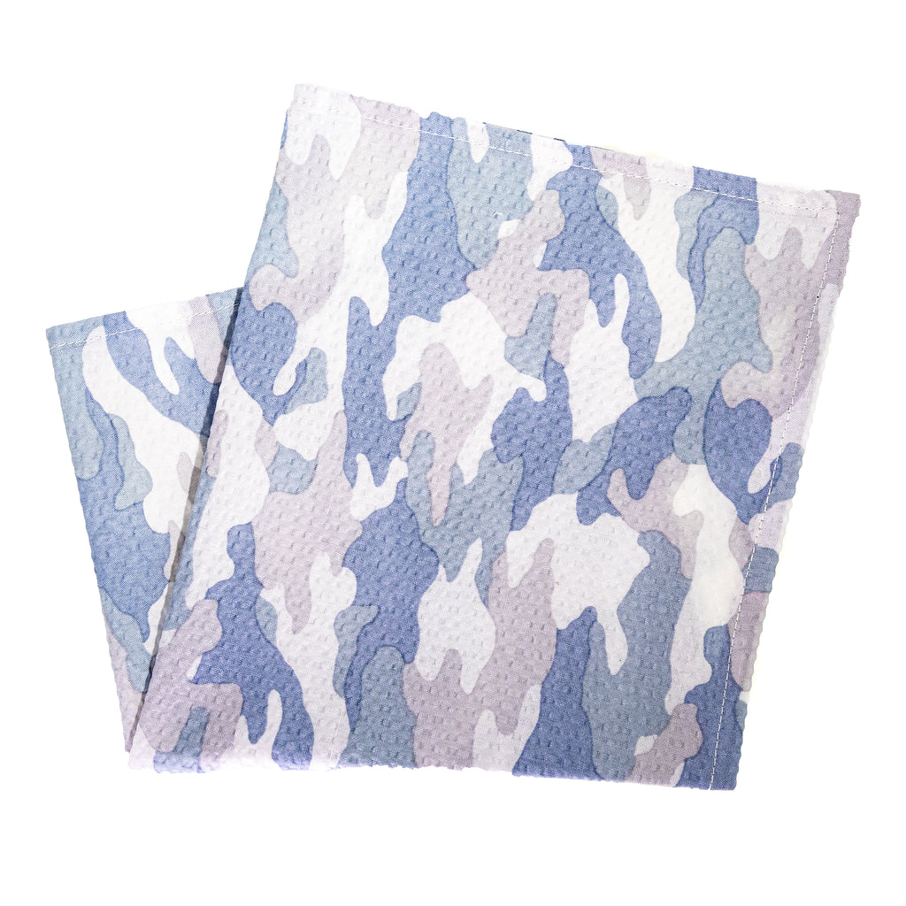 Light Gray Camo Seersucker Pocket Square