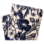 Japanese Indigo Floral Pocket Square