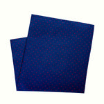 Navy & Red Pindot Pocket Square