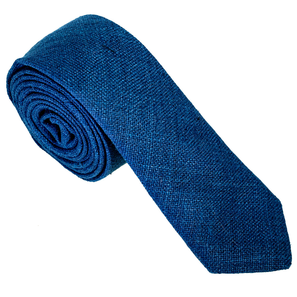 Deep Navy Raw Silk Necktie