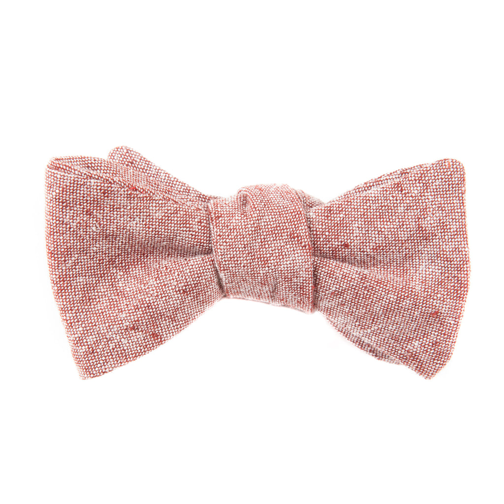 Rusty Red Chambray Bow Tie