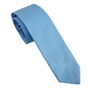 Carolina Blue Pin Dot Necktie