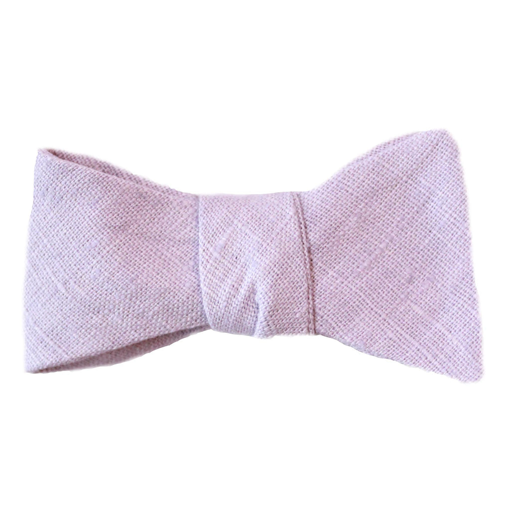 lavender purple linen bow tie