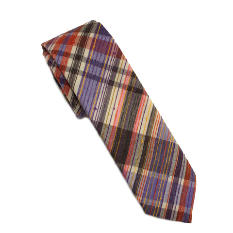 1960's Neppy Plaid Necktie