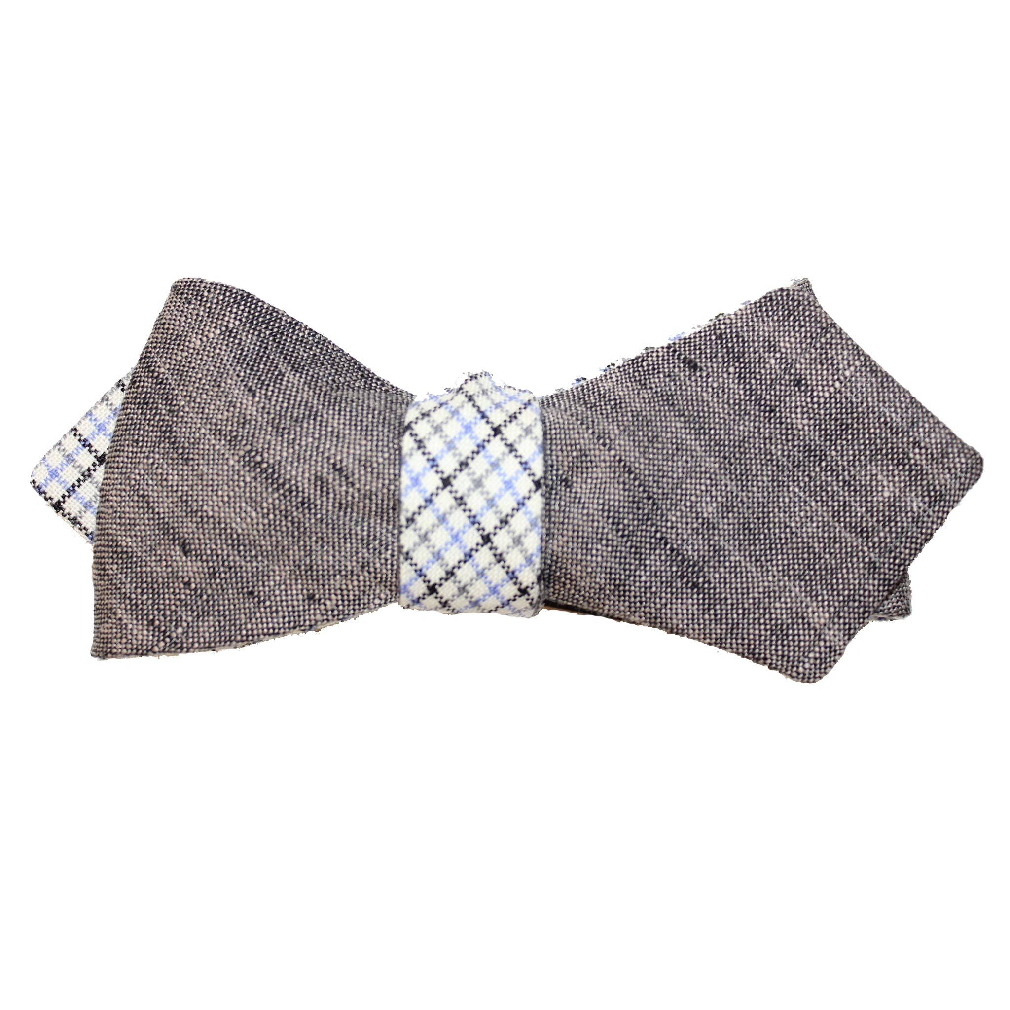 gray Irish linen and Italian wool bow tie
