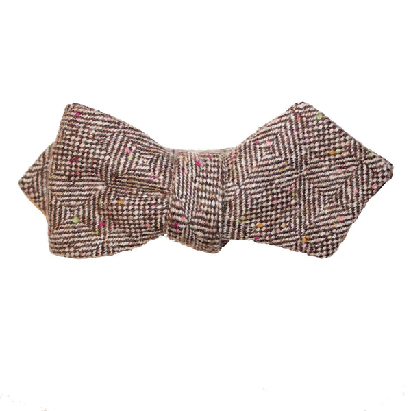 Jolly Professor Donegal Herringbone Diamond Point Bow Tie