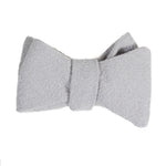 light gray cotton linen bow tie from Mill City Fineries