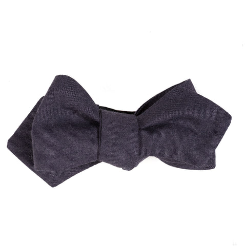 dark purple suiting grade 120 wool bow tie