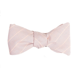 Apricot Pinstripe Bow Tie