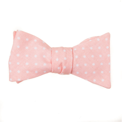 Blush Pink Polka Dot Bow Tie