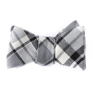 Charcoal Plaid Bow Tie