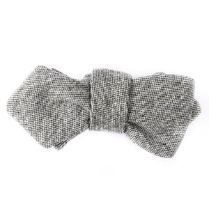 Olive Chambray Diamond Point Bow Tie