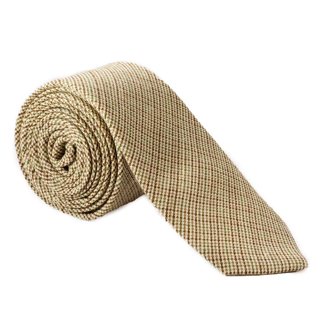 Autumn Wheat Bamboo & Wool Necktie