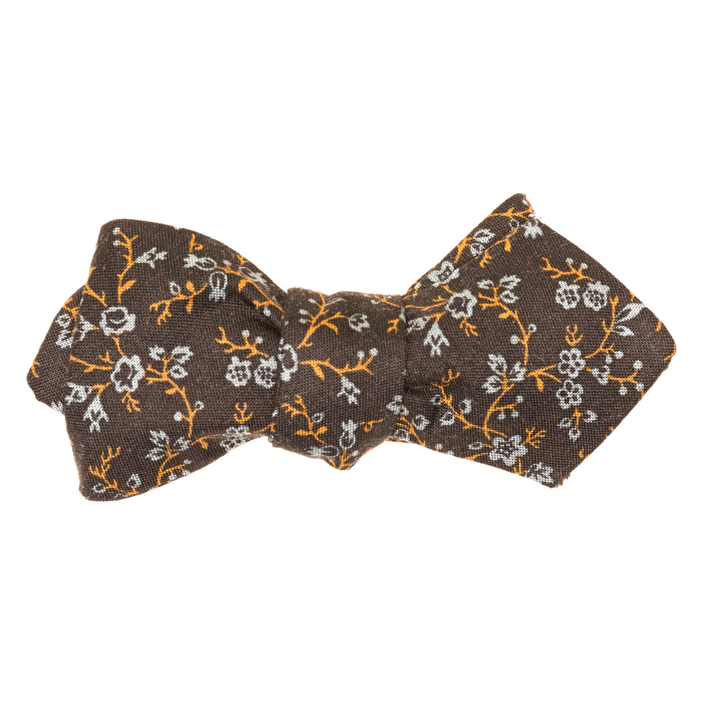 Japanese Floral Vine Bow Tie