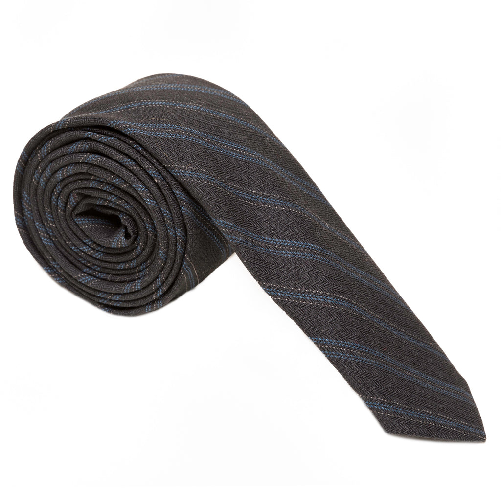 The Boardroom Italian Wool Striped Necktie