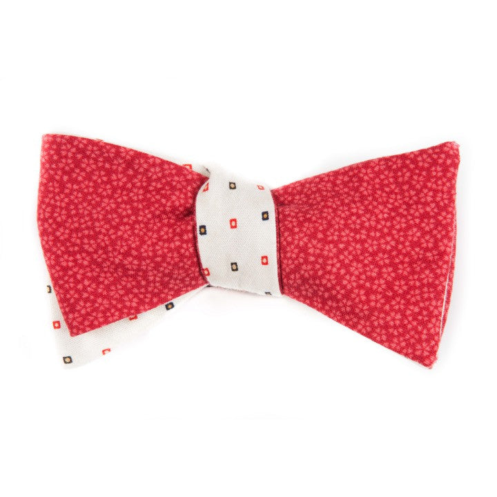 Red Poppy Remix Reversible Bow Tie